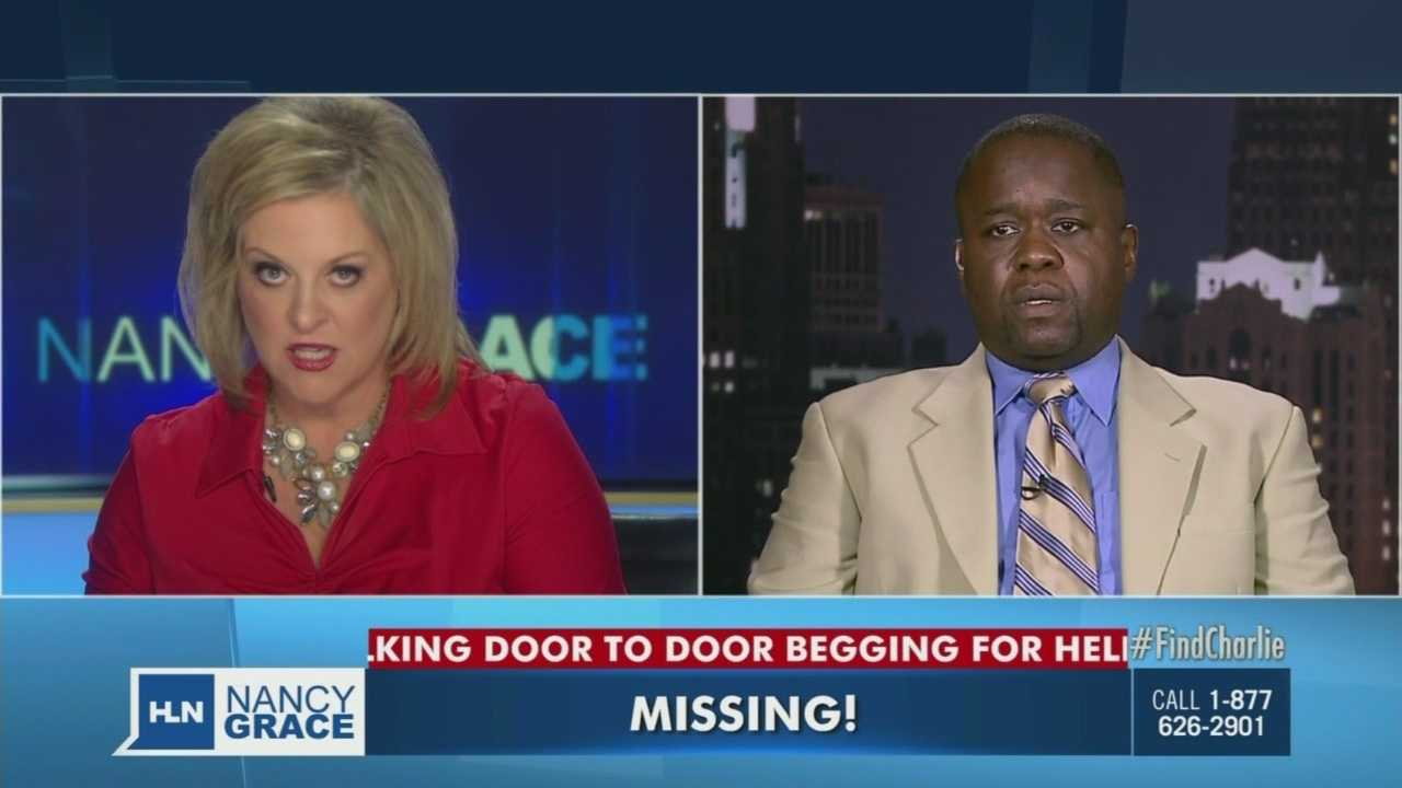 """We are getting reports that your son has been found in your basement.""  See the reaction from a father who found out his missing son was OK while on Nancy Grace."
