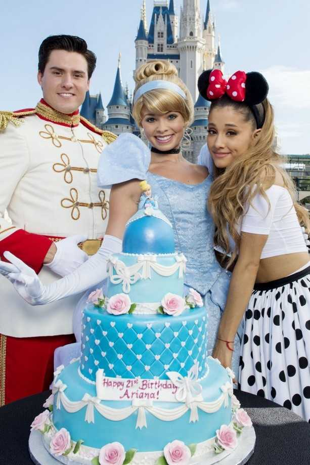 Ariana Grande celebrated her birthday at Magic Kingdom in June 2014.