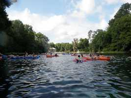 2. Cool off on a hot day by tubing on The Rainbow River. You can either rent a tube from K.P. Hole Park in Dunnellon or bring your own.Park entry fee: $5Tube with Shuttle: $10 per day9435 S.W. 190th Ave Rd., Dunnellon, Fla. 34432