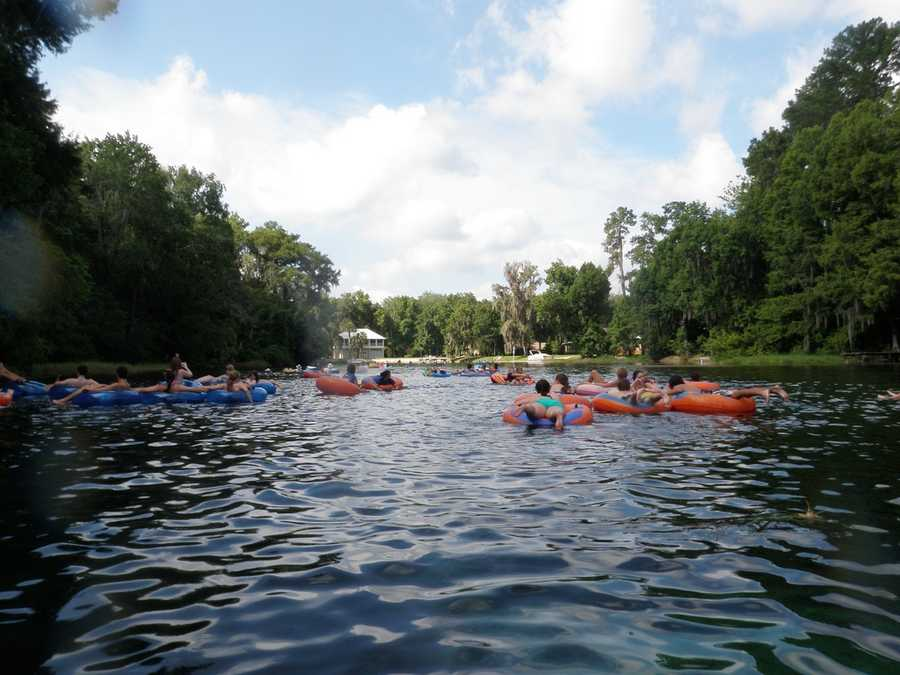 2. Cool off on a hot day by tubing on The Rainbow River. You can either rent a tube from K.P. Hole Park in Dunnellon or bring your own. Park entry fee: $5Tube with Shuttle: $10 per day9435 S.W. 190th Ave Rd., Dunnellon, Fla. 34432
