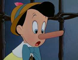 The nose-growing character Pinocchio.