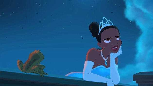 Tiana from the 2009 movie the Princess and the Frog