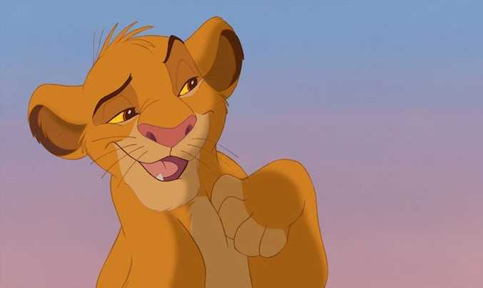 Adult Simba from the 1994 movie the Lion King.
