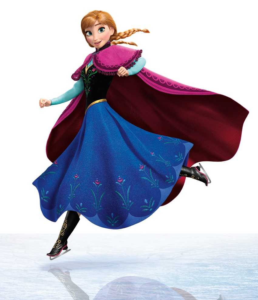 Anna from the movie Frozen