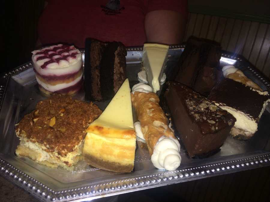 Desserts, desserts and more desserts - cheesecake, Tiramisu, Cannoli and a variety of chocolate cakes