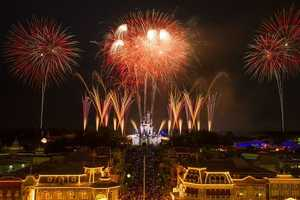 """Disney's Celebrate America! A Fourth of July Concert in the Sky"" has begun at Magic Kingdom. See pictures from the July 3 performance."