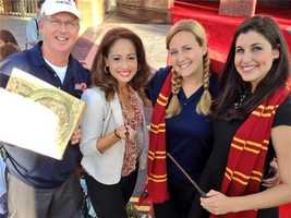 The WESH crew covering Diagon Alley opening day