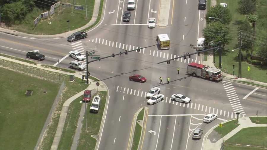 A van hit a bicyclist near the intersection of Apopka-Vineland and Balboa Dr. in Orange County on Wednesday afternoon. The crash was fatal.