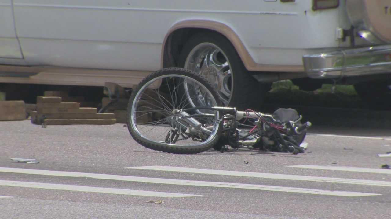 A man riding a bicycle was hit and killed Wednesday afternoon, according to the Florida Highway Patrol.