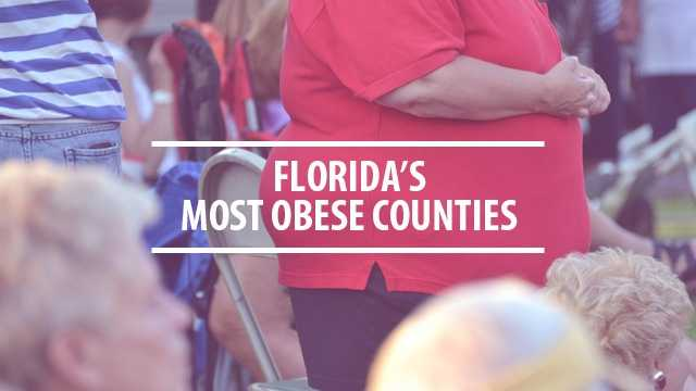 See a list of the counties in Florida with the highest rate of obesity, according to data from County Health Rankings and Roadmaps.