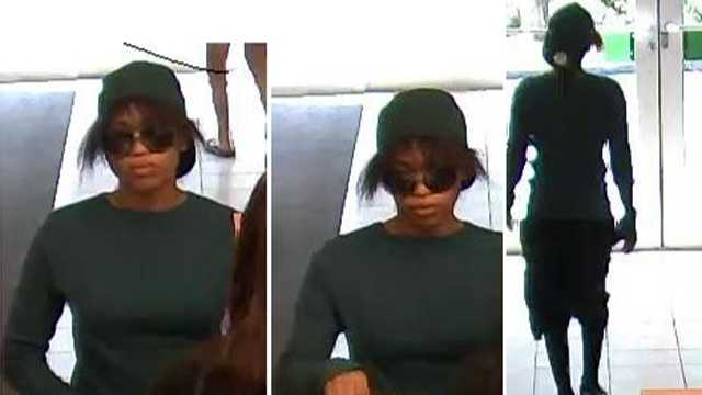 Bank robbery surveillance photo