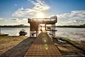 Check out this private dock on Lake Winnemissett.