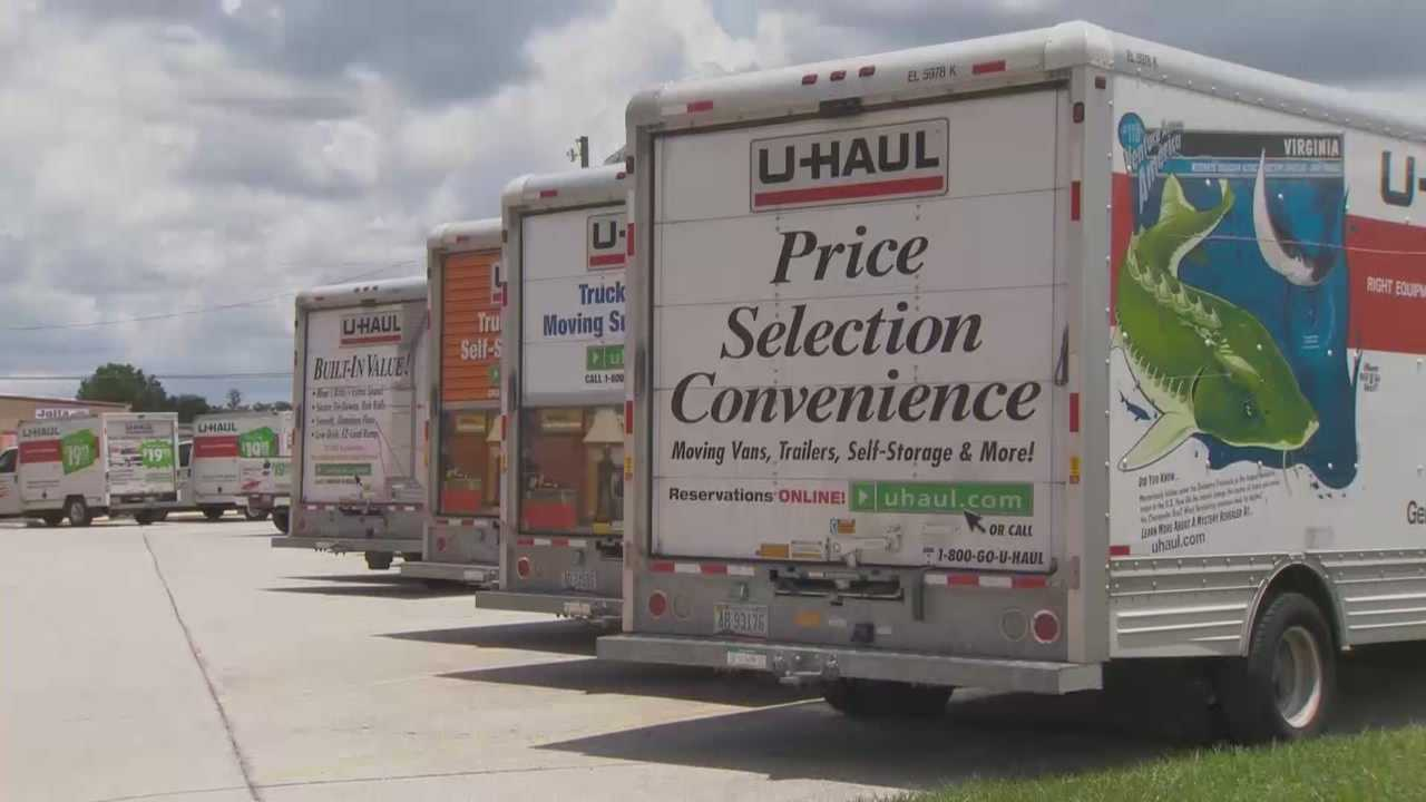 Thirty-three catalytic converters were stolen from trucks at U-Haul locations in east Orange County this weekend, authorities said.