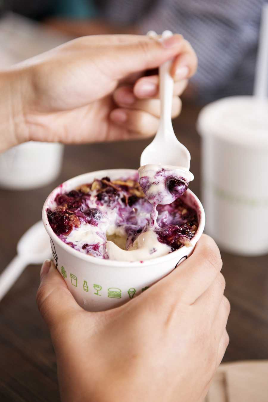 10.The restaurant offers Concretes, which is a frozen custard ice cream blended at high speed with mix-ins and are unique and location-inspired at each Shake Shack.