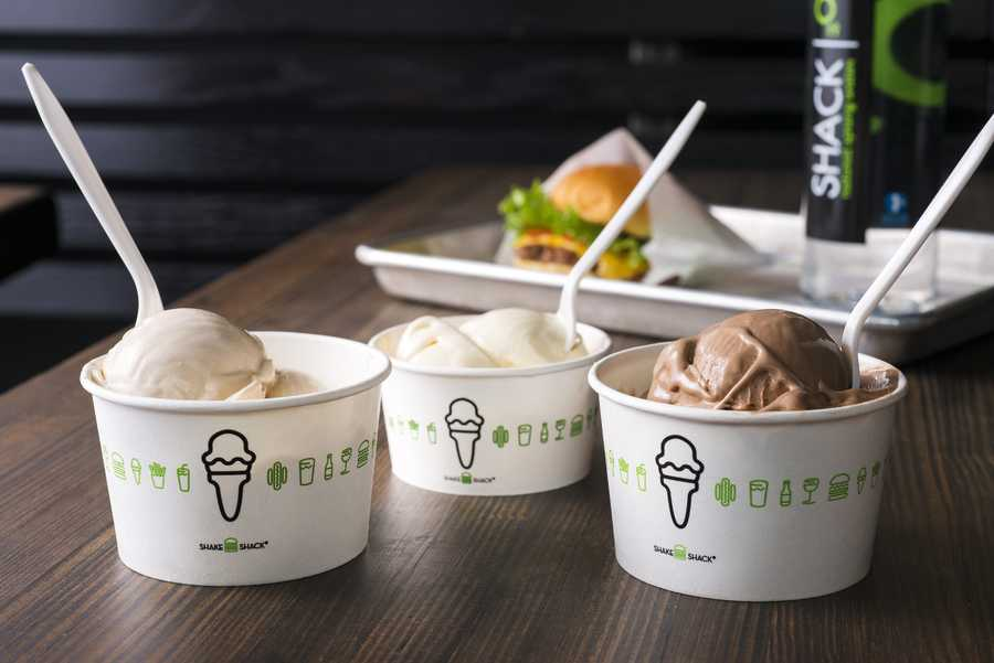 9. Frozen Custard is the Shack's ice cream that is spun fresh daily.