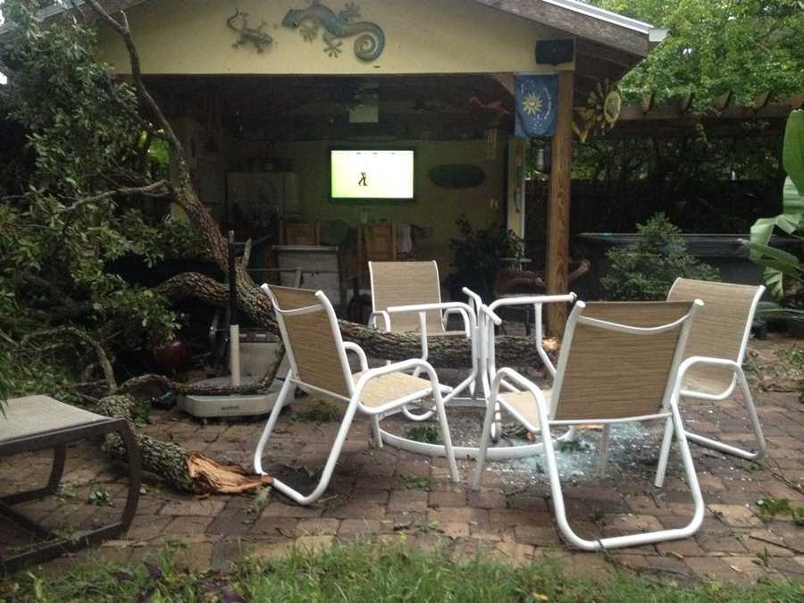 Backyard damage in New Smyrna Beach