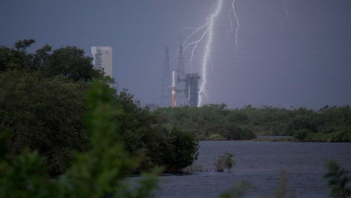 Delta rocket scrubbed due to severe weather