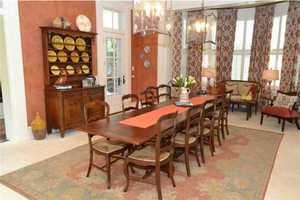 The dining area is not formal, but perfect for large family dinners at home.