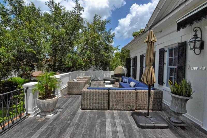 Comfortable sun deck also offers the option for shade.