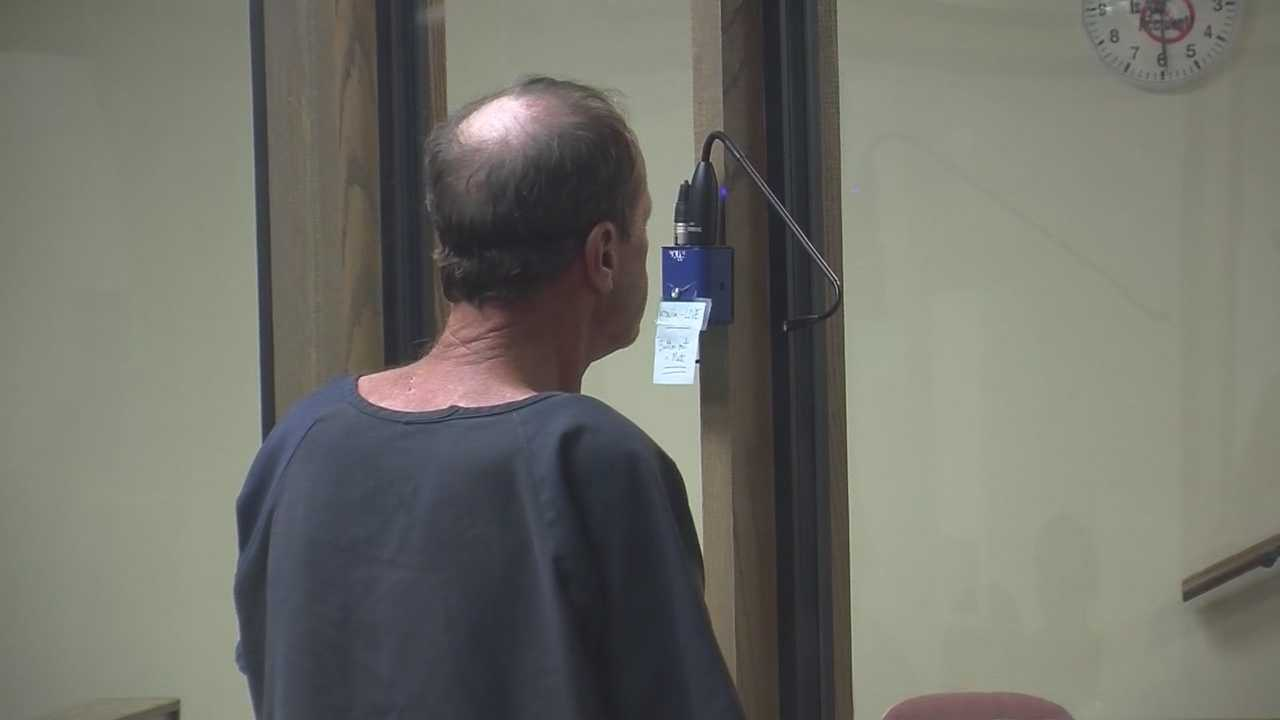 The first person to ever be arrested for panhandling in Melbourne made his first court appearance Thursday.
