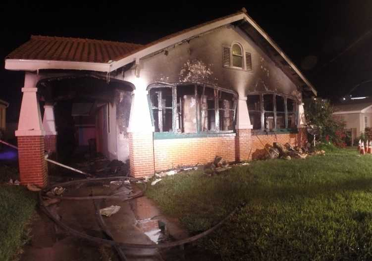 A vacant home was set ablaze on Lenox Avenue in Daytona Beach, according to fire officials.