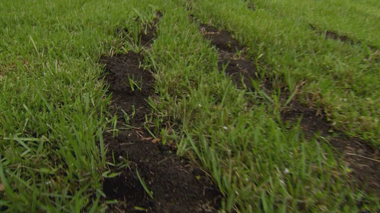 The front lawn of Seminole County's Criminal Justice Center was targeted by vandals last week.