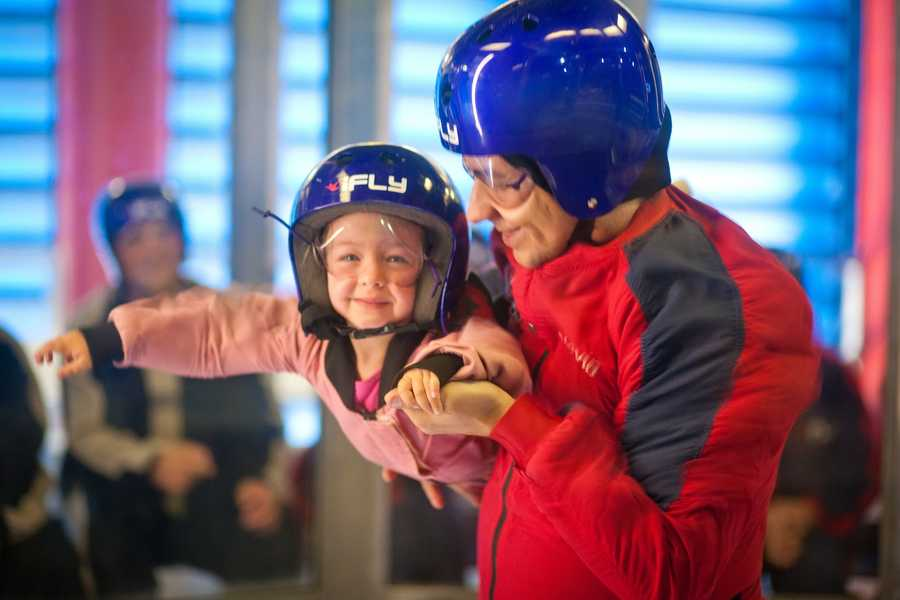 6. iFLY Indoor Skydiving iFly is an indoor skydiving experience that creates true free fall conditions, just like skydiving, without having to jump out of an airplane. Hours: Daily 10 a.m. - 10:30 p.m. Address: 6805 Visitors Cir., Orlando, FL 32819