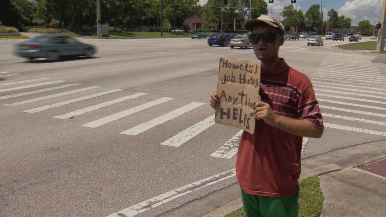 Longwood police said the city's anti-panhandling ordinance has dramatically cut the number of people walking in traffic to ask for and collect money.