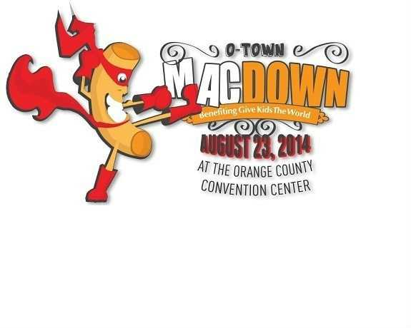 """4. O-Town MacDownWhen: Saturday, August 23, 2014, 11 a.m. - 4 p.m.A delicious """"food fight"""" cooking competition featuring professional chefs and restaurants as well as home cooks and non-profit organizations who will duke it out to the very end to be named Orlando's Mac-n-Cheese Champion.Prizes will be awarded in various categories, and the event will include live entertainment, celebrity chef cooking demonstrations, live performances, a kids' fun zone including face painting, bounce houses and macaroni art station, theme park character meet-and-greets and vendor booths.Presenting sponsor SeaWorld along with Give Kids The World invite the general public to come sample the cheesiest mac-n-cheese that area culinary combatants have to offer at this cooking challenge.Attendance and participation benefits Give Kids The World Village, a 70-acre, nonprofit resort in Central Florida that provides weeklong, cost-free vacations to children with life-threatening illnesses and their families.Cost:Adults - $10 Children - $5 VIP - $35Tickets: www.OTownMacDown.org Where: Orange County Convention Center9990 International Dr., Orlando, FL 32819, Room W 340B"""