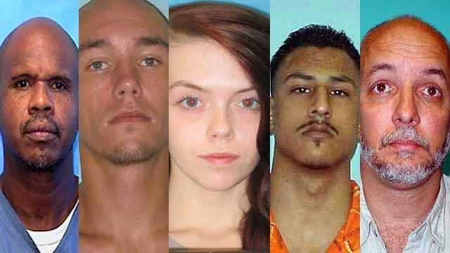 According to the Florida Department of Corrections, the following 35 people are wanted absconders. Do not attempt to apprehend or detain them.