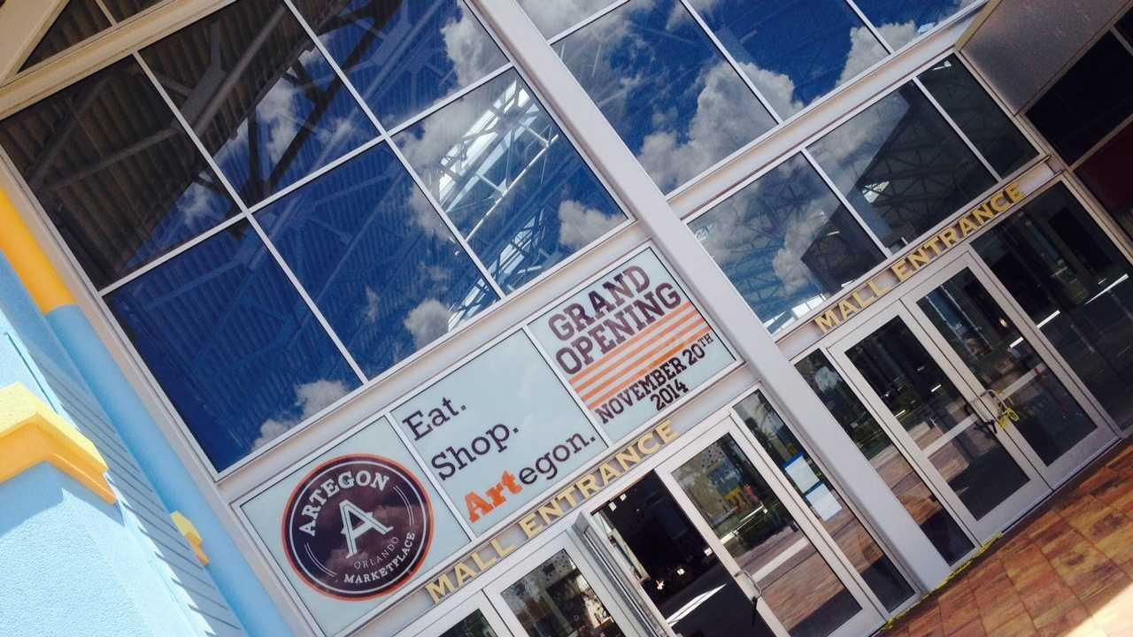 Artegon Marketplaces Opens November 20 on I-Drive Sign4.JPG