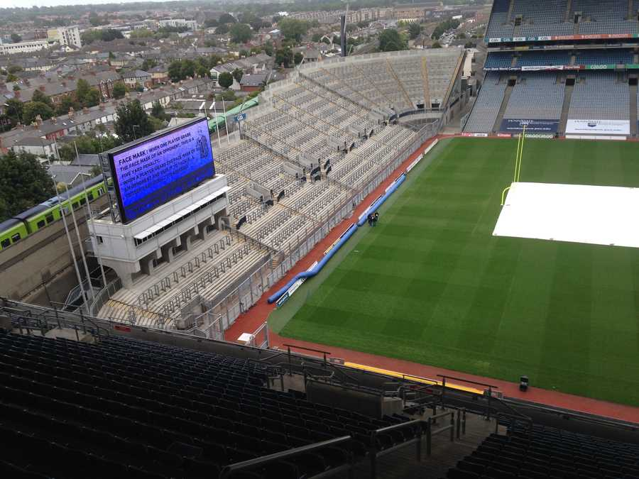 Croke Park in Dublin, which opened in 1913, wasn't constructed for American football games.
