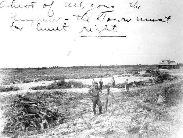 1924: Surveying and land clearing