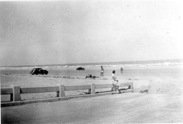 1950: View of the beach