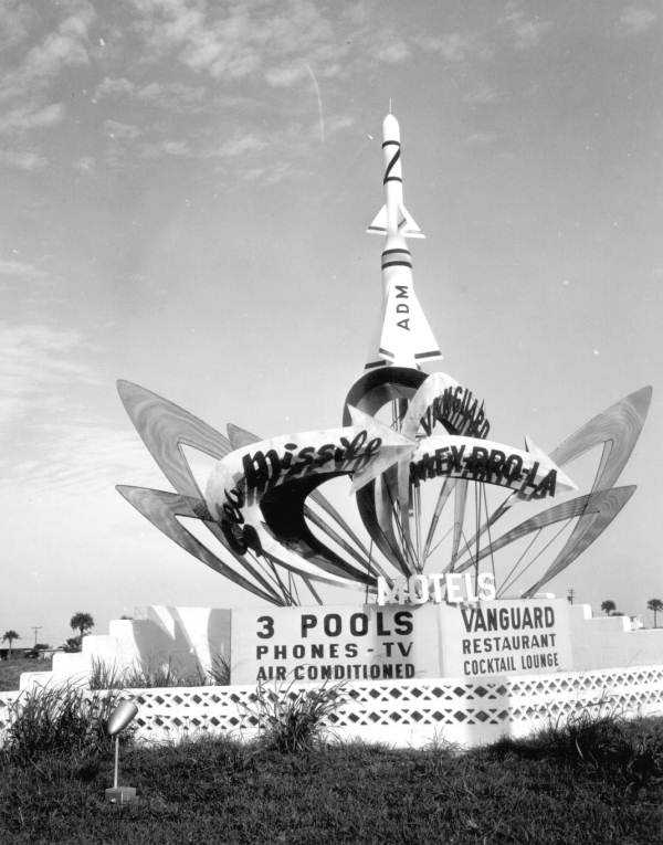 1958: Motel signs representing space programs