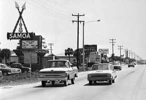 1960s: Florida Highway A1A looking south on Motel Row