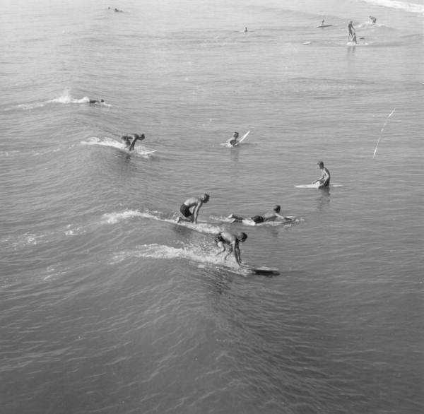 1970: Surfers at the beach