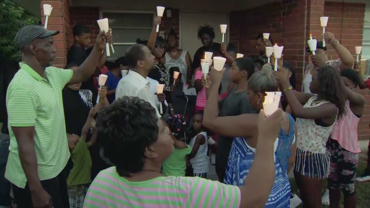 An outpouring of emotion at a vigil for a local murder victim allegedly gunned down by her boyfriend.