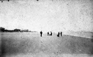 1890: Visitors strolling on Coronado Beach, now New Smyrna Beach