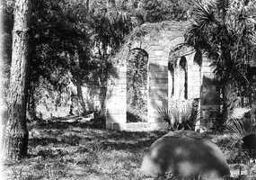 1929: Ruins of the New Smyrna Sugar Mill in New Smyrna Beach