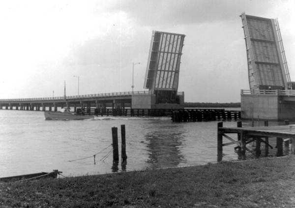 1953: A view of the new million dollar North Bridge in New Smyrna Beach