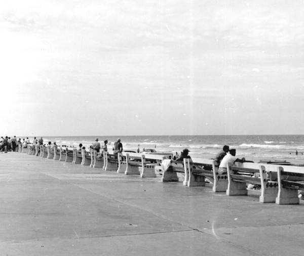 1956: New Smyrna Beach boardwalk on the Atlantic Ocean