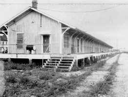 1965: A view of the FEC railway freight house in New Smyrna Beach