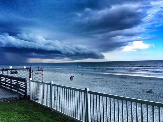 2013: Storm moving into New Smyrna Beach