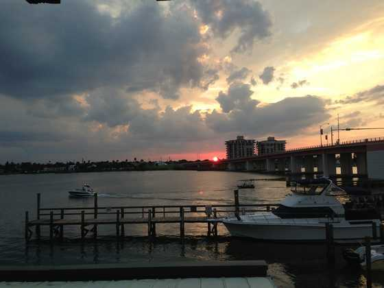 2013: The sunset at the intracoastal in New Smyrna Beach