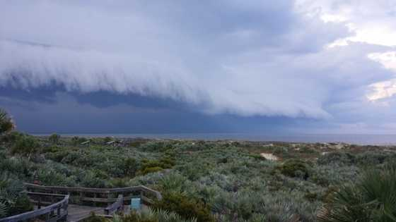 2014: View of storms rolling into New Smyrna Beach