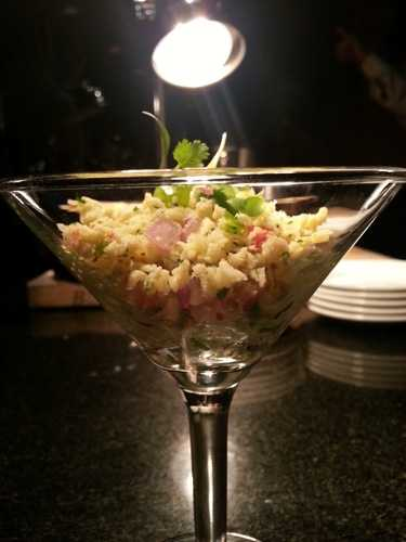 The conch salad, found at the Puerto Rico marketplace.