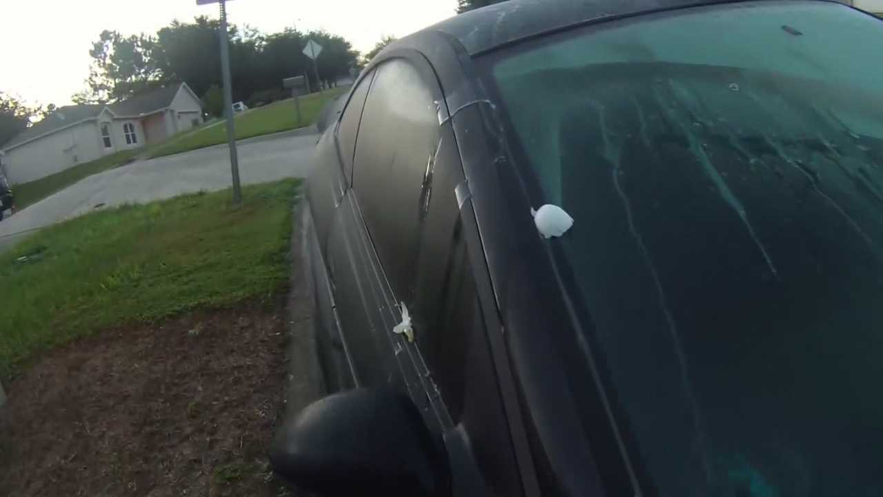 A 58-year-old Lake County man upset over neighbors parking their vehicles in the street started egging the cars, police say.