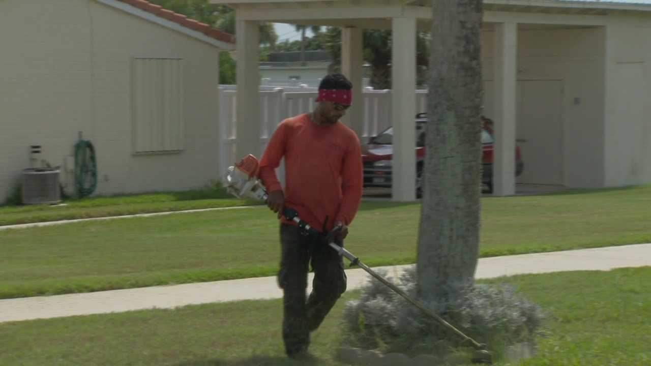 A local woman is accused of threatening to shoot a lawn maintenance worker because he woke her up, according to the Ormond Beach Police Department.