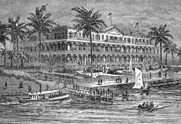 1886: Engraving of the Sanford House hotel